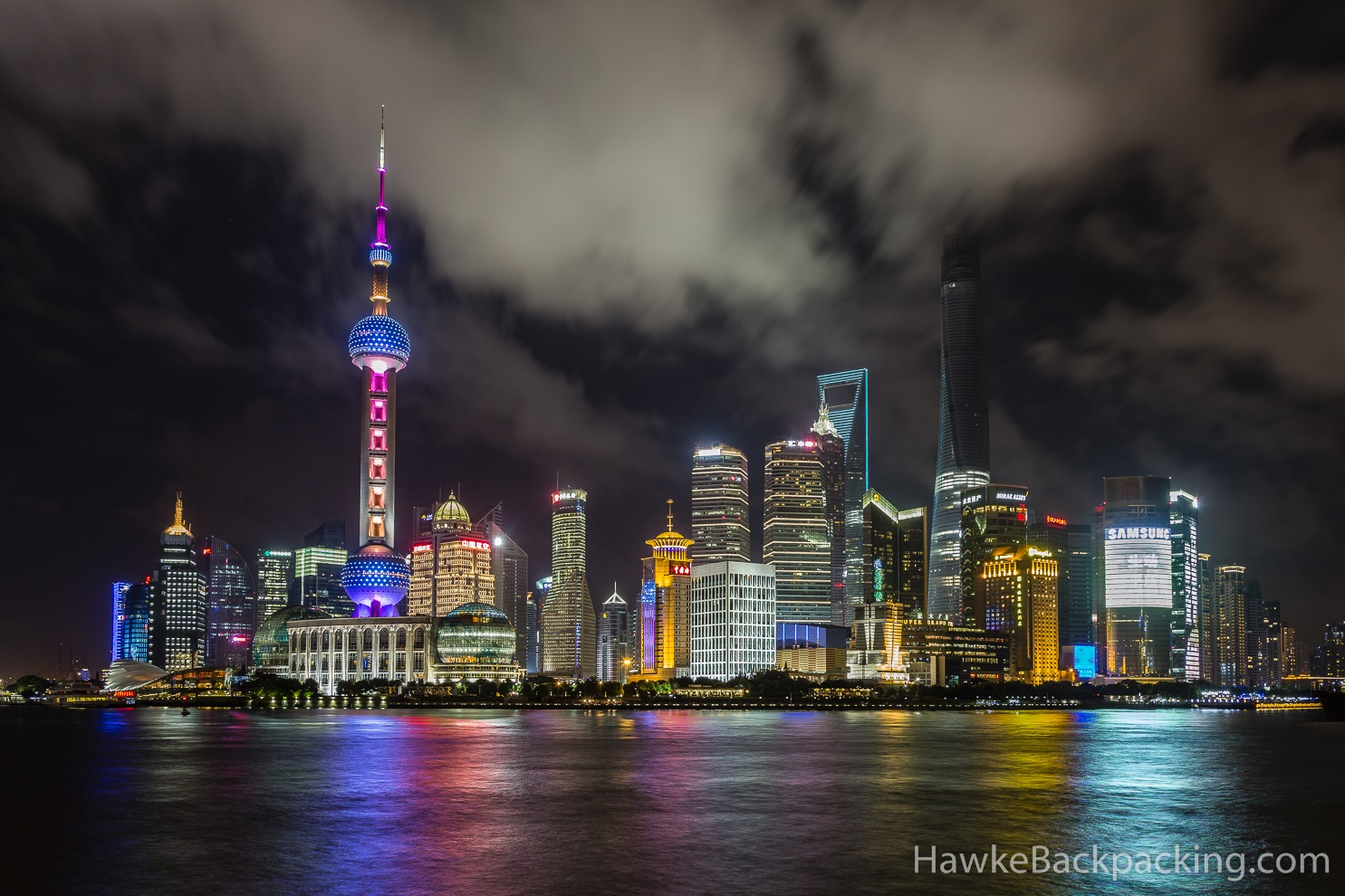 Shanghai at Night - HawkeBackpacking.com