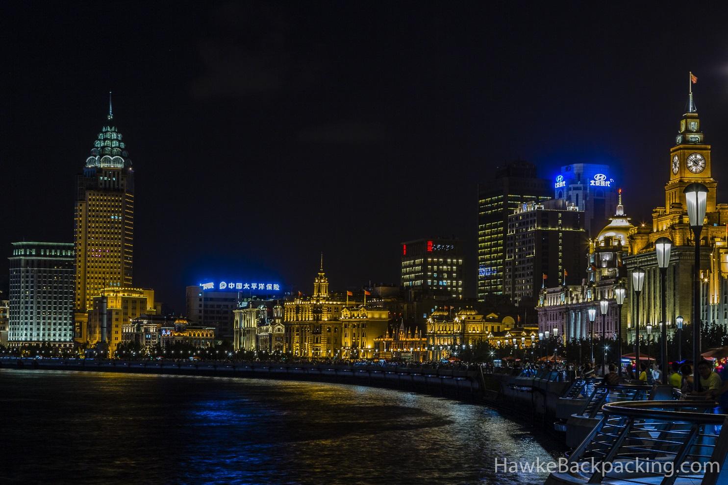 Shanghai At Night Hawkebackpacking Com