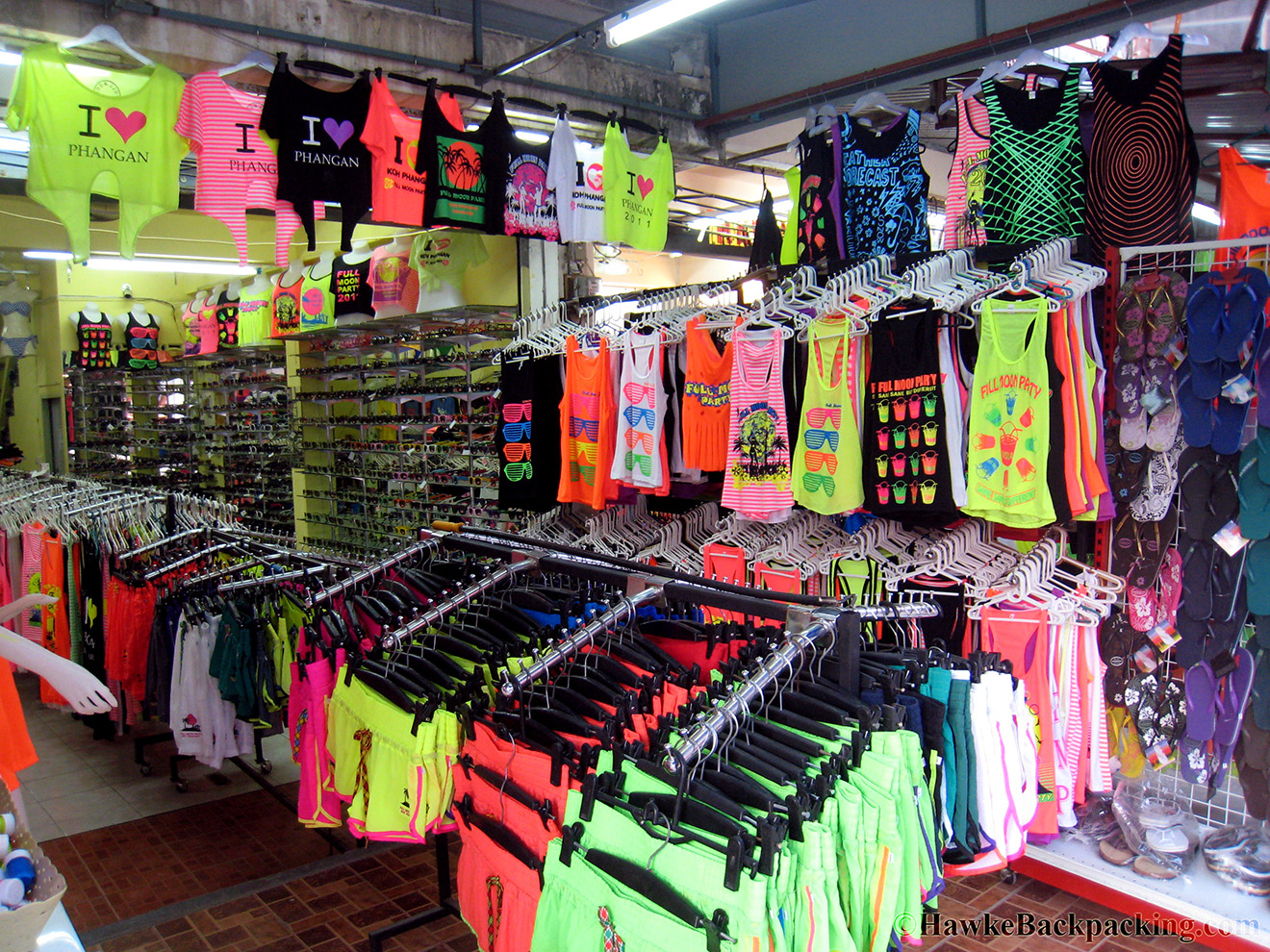 Seems Like Half The Stores In Haad Rin Are Dedicated Solely To Selling  Clothes For The Blacklight Parties.