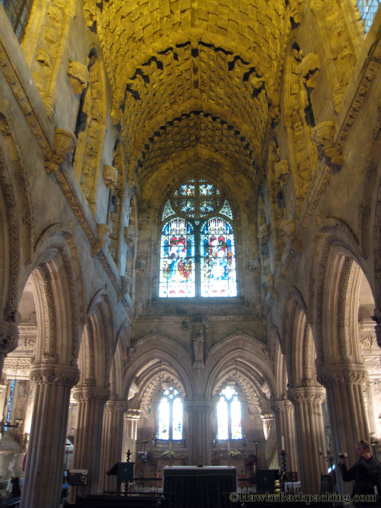Rosslyn chapel hawkebackpacking